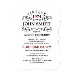 Surprise 50th birthday invitations announcements zazzle ca vintage aged to perfection funny birthday invite filmwisefo Choice Image