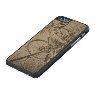Vintage agricultural machine carved maple iPhone 6 case
