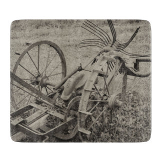 Vintage agricultural machine cutting board