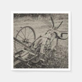 Vintage agricultural machine disposable napkin