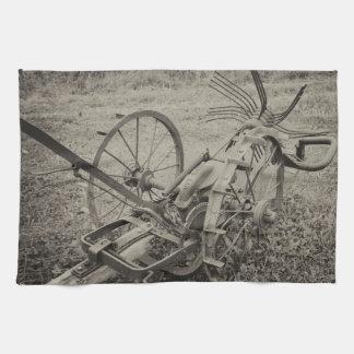 Vintage agricultural machine kitchen towel