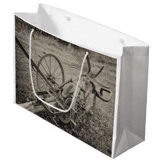 Vintage agricultural machine large gift bag