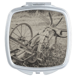 Vintage agricultural machine mirror for makeup