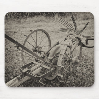 Vintage agricultural machine mouse pad