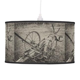 Vintage agricultural machine pendant lamp