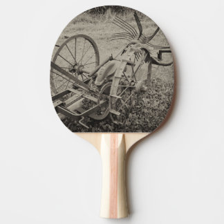Vintage agricultural machine ping pong paddle