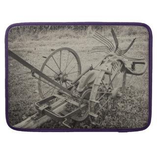 Vintage agricultural machine sleeve for MacBooks