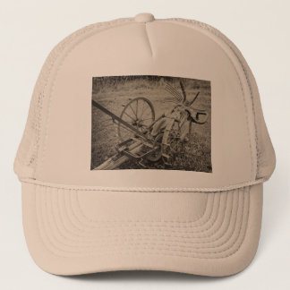 Vintage agricultural machine trucker hat