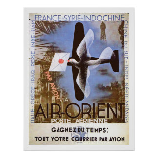 Vintage Air Orient Ad Poster
