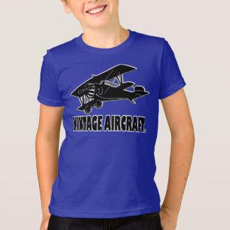 Vintage Aircraft Designer Children Kids Clothing T-Shirt
