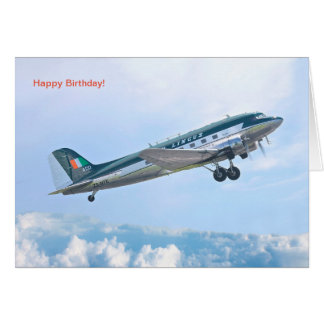 Vintage Aircraft for Birthday greeting card