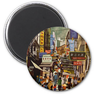 Vintage Airline Hong Kong China Travel Magnet