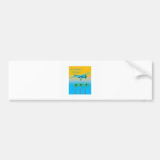 Vintage Airliner Poster Bumper Sticker