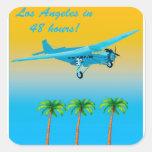 Vintage Airliner Poster Sticker