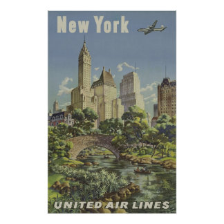 Vintage Airlines Advertisement Poster