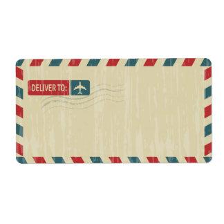 Vintage Airmail Address Mailing | DELIVER TO: