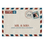 Vintage Airmail Wedding Thank You