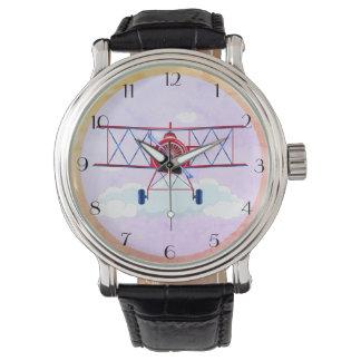 Vintage Airplane Airforce Aviator Pilot Airshow Watch