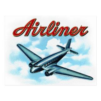 Vintage Airplane Airliner Cigar Label Postcard