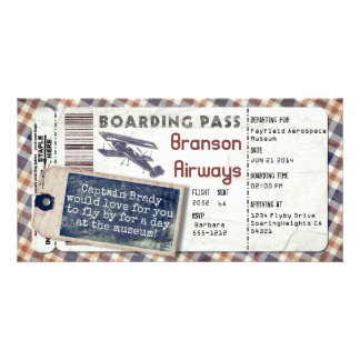 Vintage Airplane Boarding Pass 2 Card