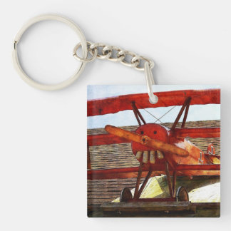 Vintage Airplane by Shirley Taylor Keychain
