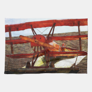 Vintage Airplane by Shirley Taylor Kitchen Towel