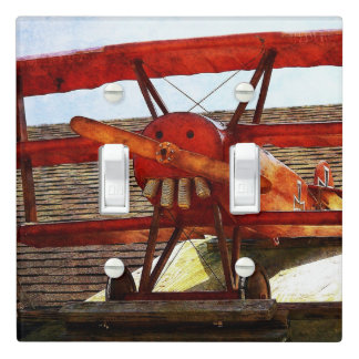 Vintage Airplane by Shirley Taylor Light Switch Cover