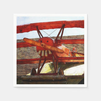 Vintage Airplane by Shirley Taylor Paper Napkins