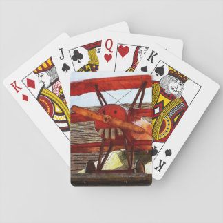 Vintage Airplane by Shirley Taylor Poker Deck
