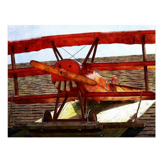 Vintage Airplane by Shirley Taylor Postcard