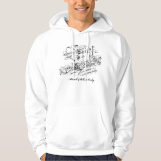 Vintage Airplane Engine Illustration Ad Hoodie