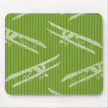 Vintage Airplane Green Mousepads