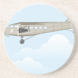Vintage Airplane illustration vector Coaster