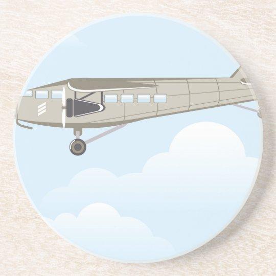 Vintage Airplane illustration vector Coaster