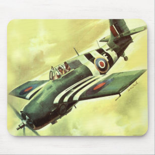Vintage Airplane Mouse Pad