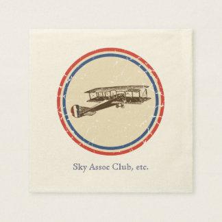 Vintage Airplane Paper Napkin