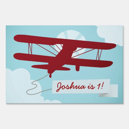 Vintage Airplane Party Sign