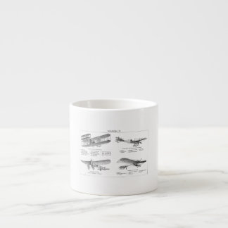 Vintage Airplane Retro Old Biplane Antique Planes Espresso Cup