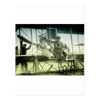 Vintage Airplane Test Postcard