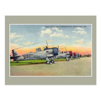 Vintage airplanes Maxwell Field Montgomery AL Postcard