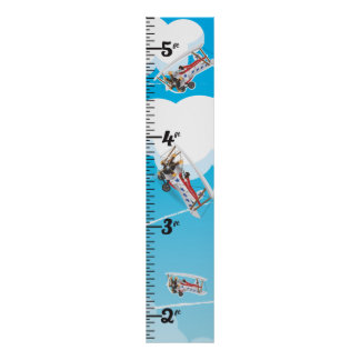 Vintage airplanes toy growth chart