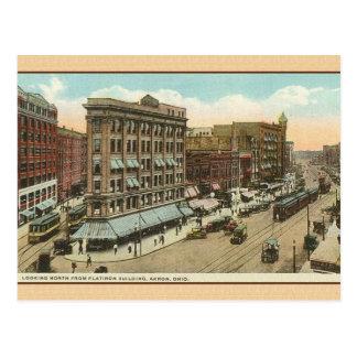 Vintage Akron Ohio Travel Post Card