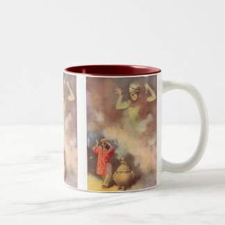 Vintage Aladdin and the Genie of the Lamp, Godwin Two-Tone Coffee Mug