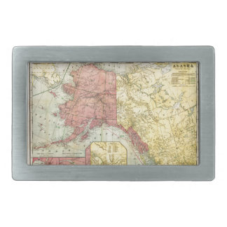 Vintage Alaska Map Belt Buckles