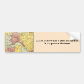 Vintage Alaska Map Bumper Sticker