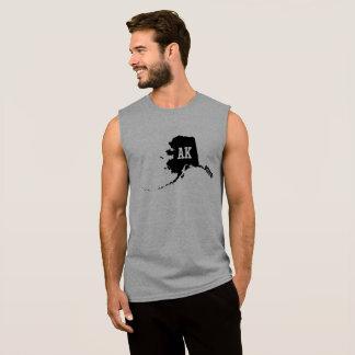 Vintage Alaska State Map AK Men's Sleeveless Shirt