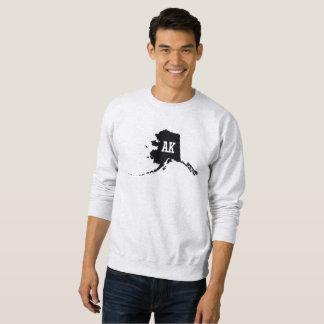 Vintage Alaska State Map AK Men's Sweatshirts