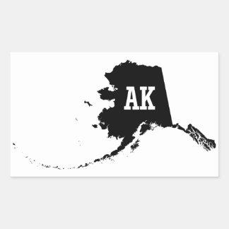 Vintage Alaska State Map AK Stickers