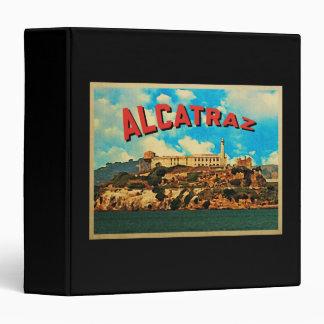 Vintage Alcatraz Island Vinyl Binder
