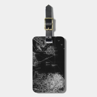 Vintage Alcatraz map luggage tag